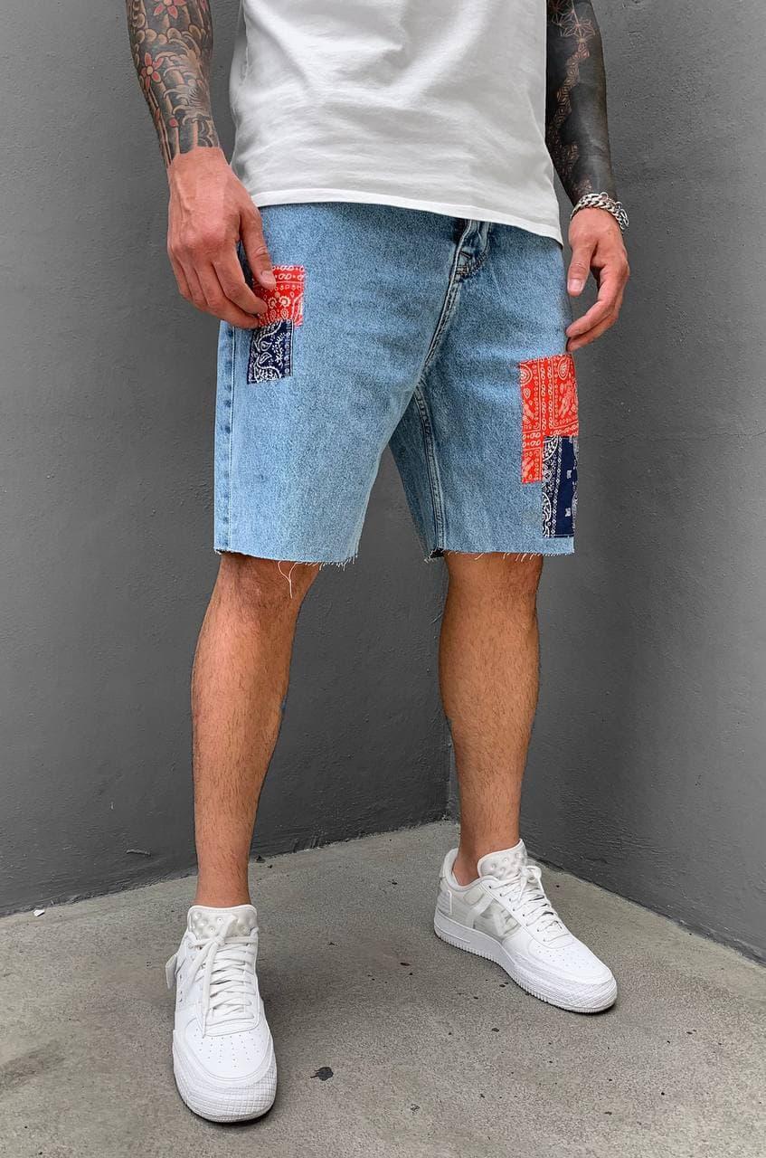 Чоловічі джинсові шорти блакитного кольору