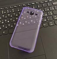 Чехол силиконовый прозрачный для Samsung J5 (2016), 0.5mm, Фиолетовый