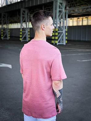 Мужская футболка пудрового цвета oversize, фото 2
