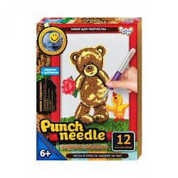 """Килимова вишивка """"Punch needle: Ведмедик з квіточкою"""" PN-01-01 PN-01-01,02,0"""