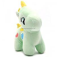 М'яка іграшка «Поні» - єдиноріг (світлові ефекти) м'ятний 25х9х20 см (M064), фото 3