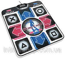 Танцевальный коврик для компьютера X-TREME Dance PAD Platinum, коврик музыкальный для танцев (TI)