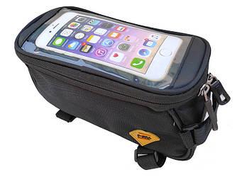 Сумка велосипедная под смартфон на раму B-Sole BAO-024