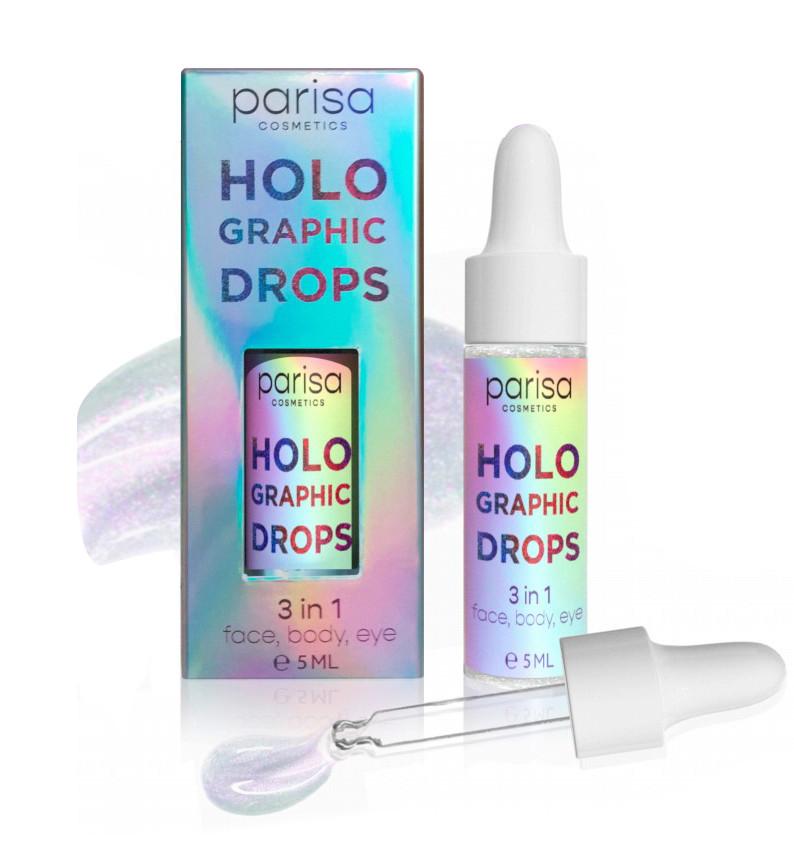 Голографические капли-блестки Parisa Holographic Drops HD-01
