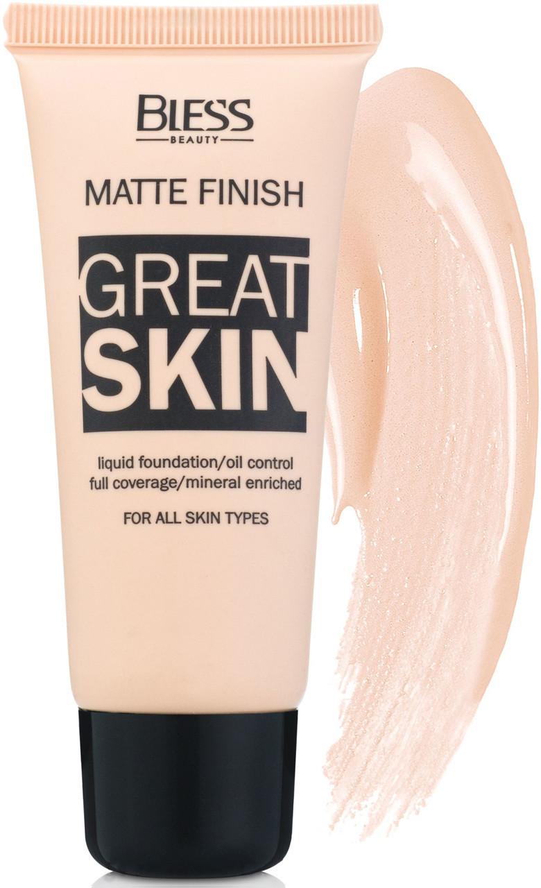 Матовий тональний крем Bless Great Skin № 1