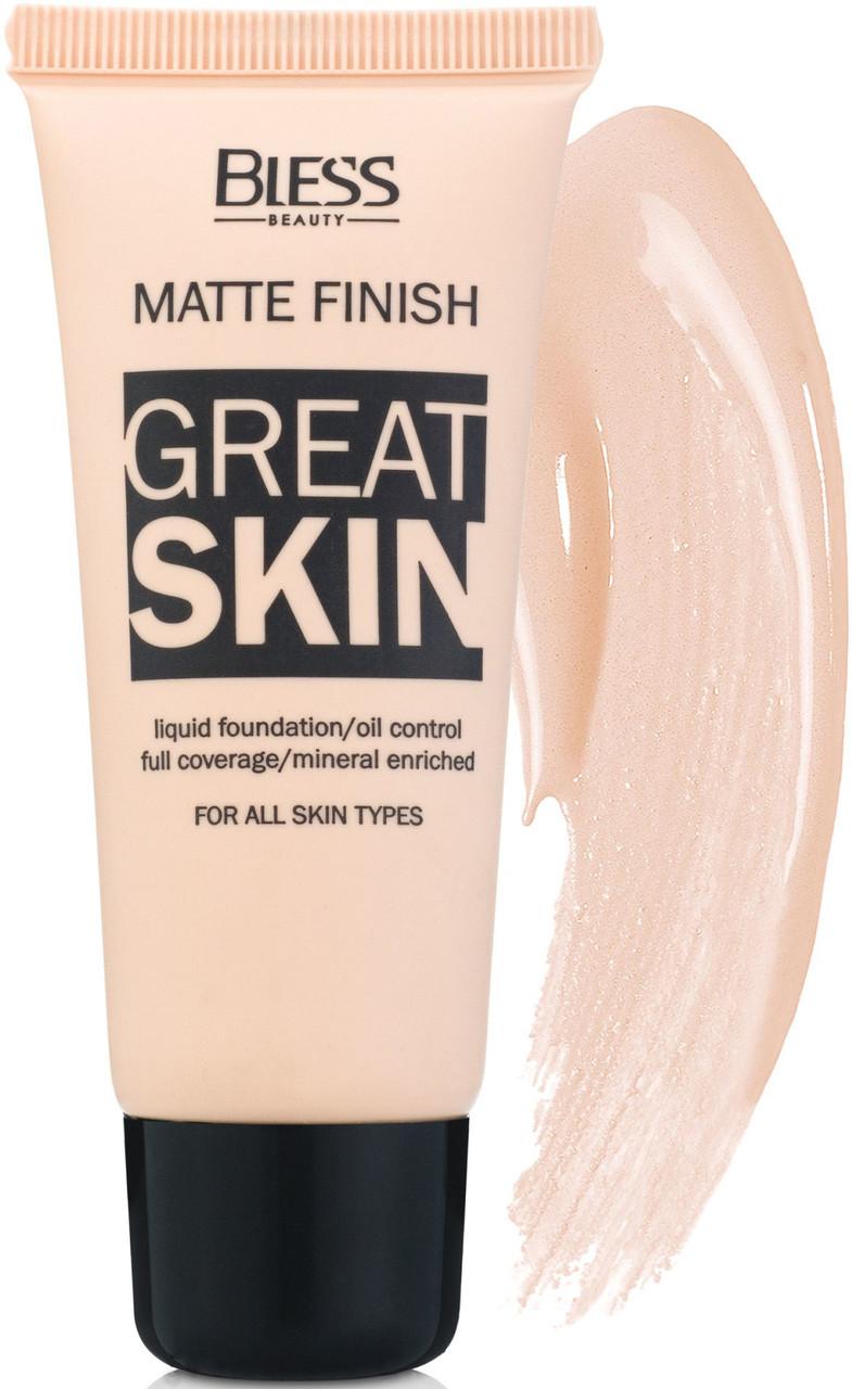 Матовый тональный крем Bless Great Skin № 2