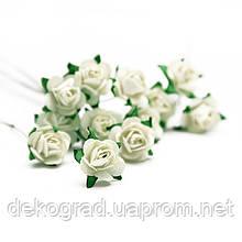 Букет троянд Open Rose White, 12 шт