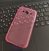 Чехол силиконовый прозрачный для Samsung J5 (2016), 0.5mm, Розовый