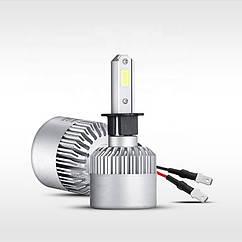 S2 Лампа светодиодная цоколь H3 (к-кт 2 шт) 12/24V, 36W, 4000Lm + вентилятор (авиац. алюмин.)