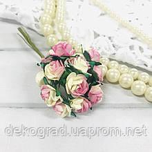 Букет троянд Open Rose, 12 шт Champagne Pink