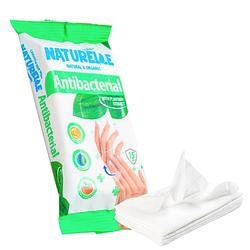 Вологі серветки NATURELLE антибактеріальні подорожник 15 шт