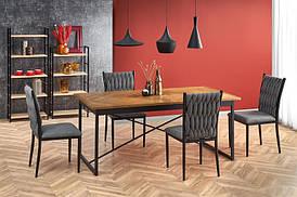 Стол ALVARO дуб медовый/черный 180(240)х90 (Halmar)