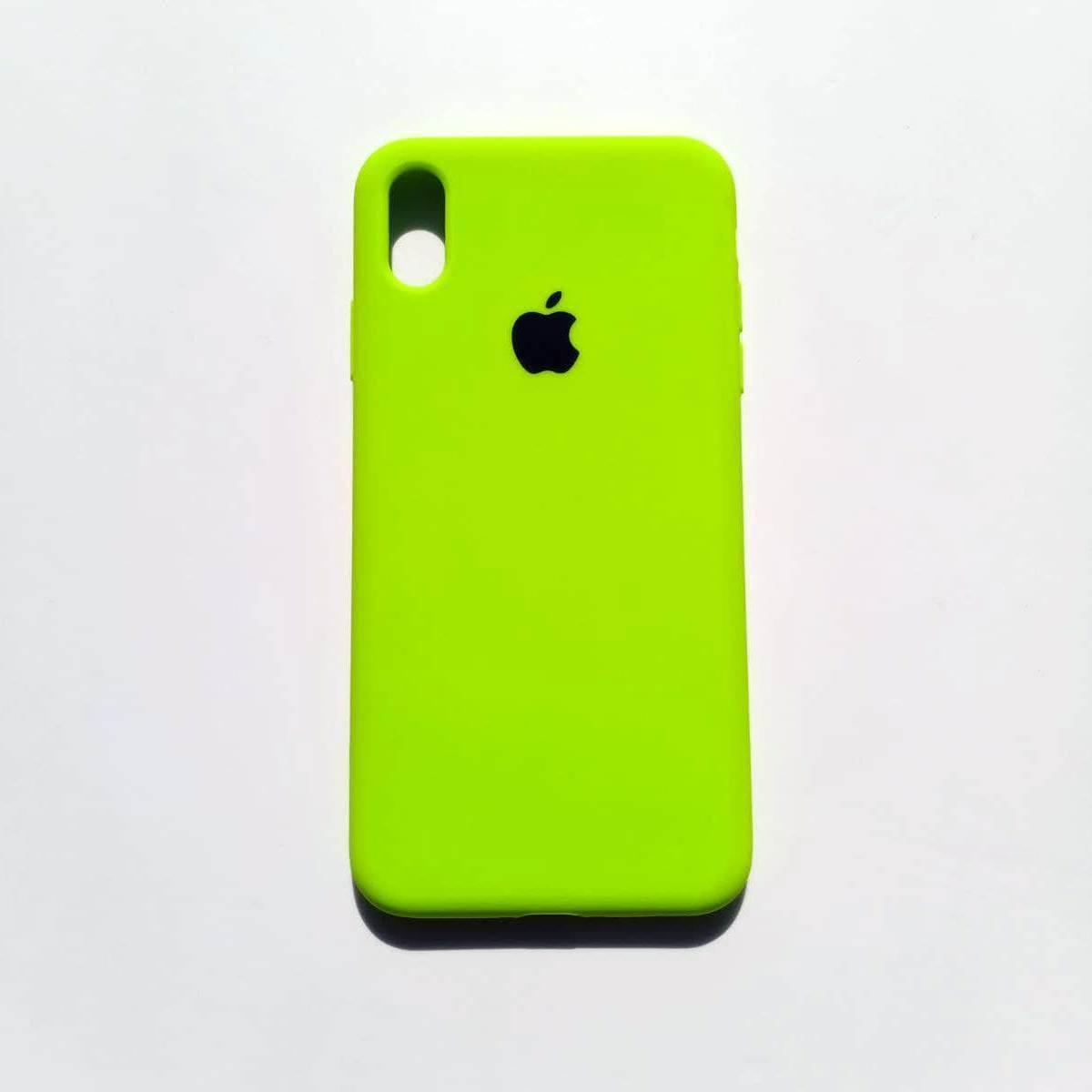 Чохол-накладка Silicone Case для Apple iPhone XS Max Neon Green