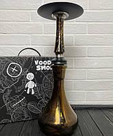 Кальян Voodoo чорно-золотий з колбою Drop золотий
