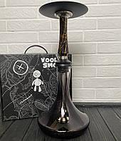 Кальян Voodoo чорно-золотий з колбою Craft чорно-прозорою