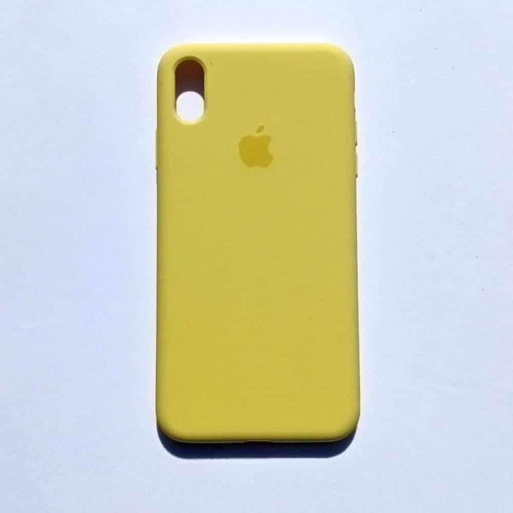 Чохол-накладка Silicone Case для Apple iPhone XS Max Canary Yellow