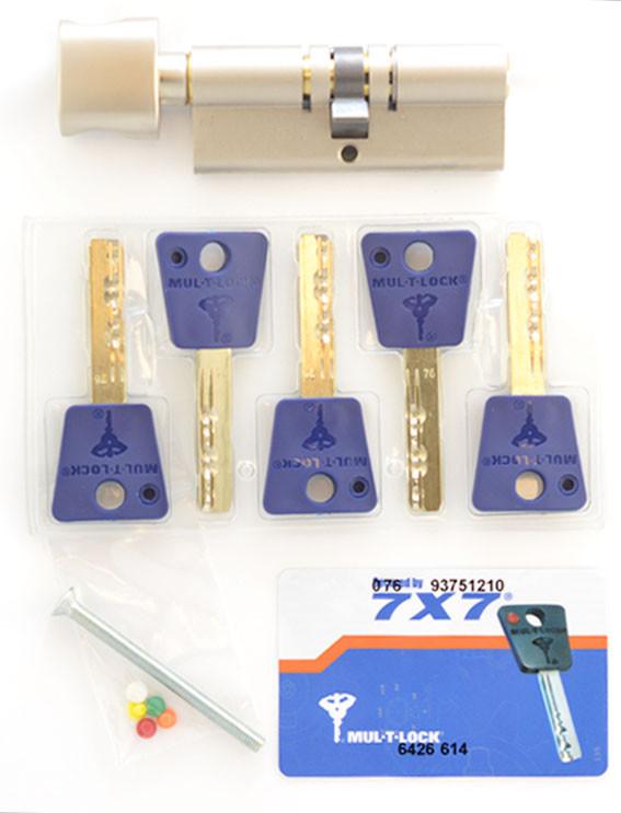 Цилиндр замочный Mul-t-lock 7х7 ключ-тумблер (поворотник)