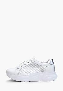 Жіночі білі кросівки з перфорацією