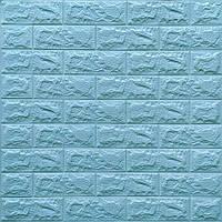 3д панель стеновой декоративный Бирюзовый Кирпич (самоклеющиеся 3d панели для стен) 700x770x7 мм