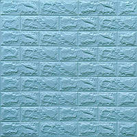 3д панель стіновий декоративний Бірюзовий Цегла (самоклеючі 3d панелі для стін) 700x770x7 мм