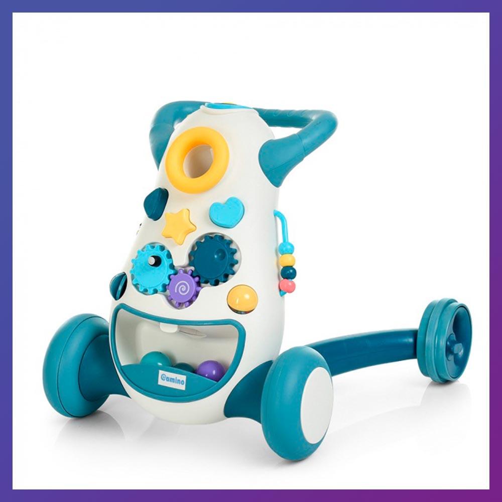 Детские ходунки-каталка 2 в 1 с музыкальными эффектами El Camino FD-6820-4 синие