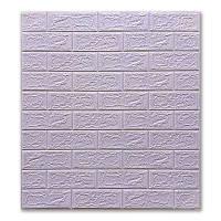 3д панель стіновий декоративний Світло-фіолетовий Цегла (самоклеючі 3d панелі для стін) 700x770x5 мм
