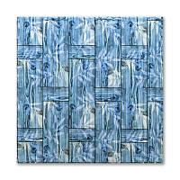 3д панель декоративна Бамбукова кладка Бірюза (самоклеючі пластикові панелі 3d під бамбук) 700x700x8 мм, фото 1