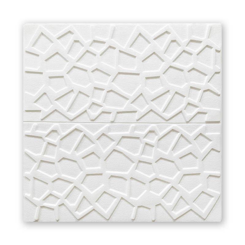Стельова панель біла Мозаїка 115 ПВХ 3Д (самоклеюча м'яка для стелі) 700*700*10 мм
