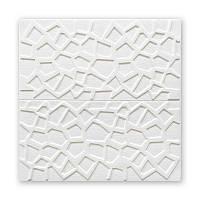Стельова панель біла Мозаїка 115 ПВХ 3Д (самоклеюча м'яка для стелі) 700*700*10 мм, фото 1