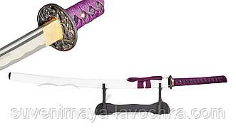 Фірмовий Сувенірний самурайський меч Purple Dragon KATANA - 13963