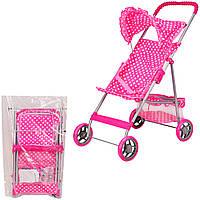 Коляска летняя, козырек, корзина для игрушек, в п/э 60*42 см, р-р коляски 48.5*32.5*65см /12-2/ (M9304)