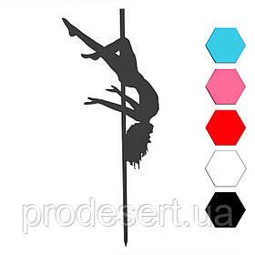 Девушка на шесте балерина топпер для торта 12,5*7,5 см (3D)