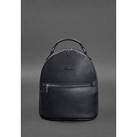 Кожаный женский мини-рюкзак Kylie Темно-синий краст