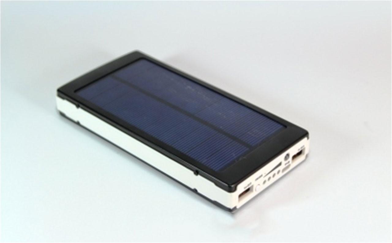 Портативное зарядное устройство Power Bank Solar 40000mAh на солнечной батарее, Мобильная солнечная