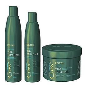 Набор для сухих, ослабленных и поврежденных волос Curex Therapy Estel 500/300/250 мл.