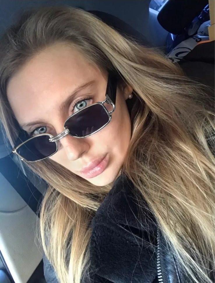 Жіночі овальні окуляри 31441 золотисті