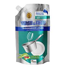 """Средство для мытья посуды """"Wash & Free"""" экстракт алоэ вера и лесной земляники 500г (DOYPACK)"""