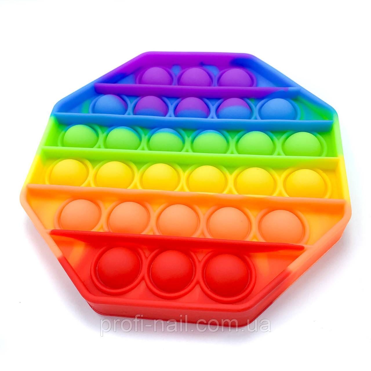 Іграшка антистрес Pop It, вічна пупырка Восьмикутник