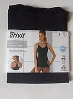 Женская бесшовная утягивающая майка черная Crivit Yoga Vest 36-44