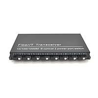 Комутатор UPLINK UFS CK-880IS8F2E Switch Fiber 8Fiber 100Mbps + 2 1000M ports RJ45, корпус метал, БЖ в