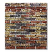 3д панель стіновий декоративний Цегляна кладка Цемент (самоклеючі 3d панелі для стін ) 700x770x5 мм, фото 1