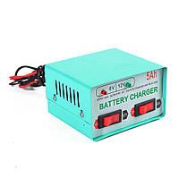 Автомобільний зарядний пристрій 6V / 12V 5А, з індикацією, AC 200V-240V, DC 6V-12V / 0.9 A + крокоділли