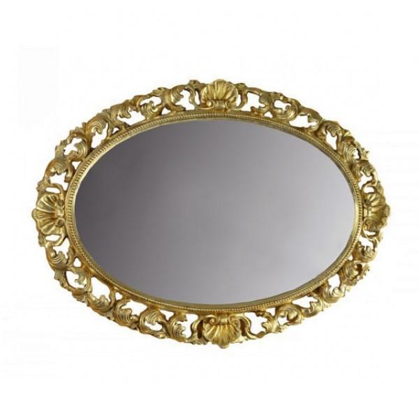 Зеркало в спальню, в прихожую Одажио 1100х760 MR-86-GL MiroMark золотистый
