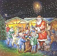 Декупажная салфетка Рождественская ярмарка 1815