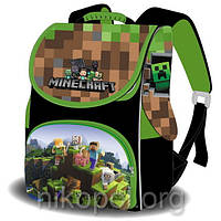 "Рюкзак школьный ""SPACE - Minecraft"" (Майнкрафт) ортопедический, коробка 33х26х17см."