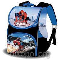 """Рюкзак школьный """"SPACE - Совершенный Человек-паук"""", ортопедический, коробка 33х26х17см."""