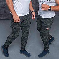 Спортивные мужские брюки, камуфляж манжет (46-54) оптом купить от склада 7 км Одесса