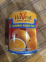 Манго пюре, Alphonso Mango Pulp Haveat, ж/б, 850 гр