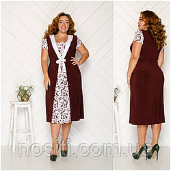 Батальне жіноче плаття з бантиком