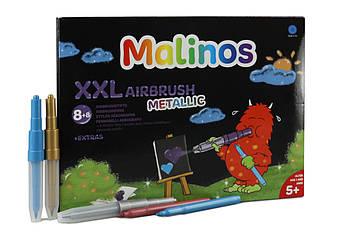 Фломастери та аерографи металік Malinos Metallic XXL 16 (8+8 шт)